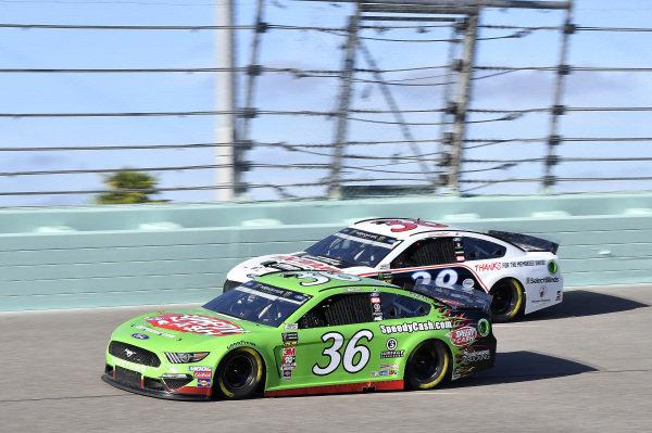#36: John Hunter Nemechek, Front Row Motorsports, Ford Mustang Speedy Cash, #38: David Ragan, Front Row Motorsports, Ford Mustang Thank You David