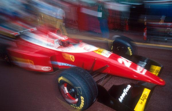 1993 Monaco Grand Prix.Monte Carlo, Monaco.20-23 May 1993.Gerhard Berger (Ferrari F93A) 14th position.Ref-93 MON 19.World Copyright - LAT Photographic