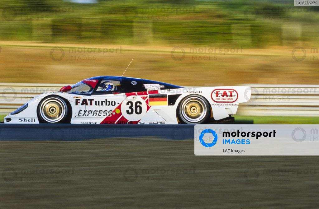 Mauro Baldi / Yannick Dalmas / Hurley Haywood, Le Mans Porsche Team, Dauer Porsche 962 LM.