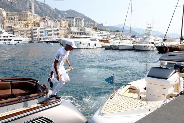 Monte Carlo, Monaco. Sunday 28 May 2017. Lewis Hamilton, Mercedes AMG.  World Copyright: Zak Mauger/LAT Images ref: Digital Image DJ5R1246