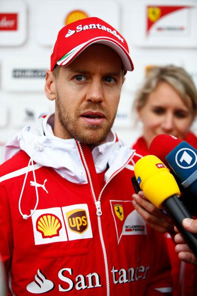 Shanghai International Circuit, Shanghai, China.  Friday 07 April 2017. Sebastian Vettel, Ferrari. World Copyright: Andy Hone/LAT Images ref: Digital Image _ONZ4335