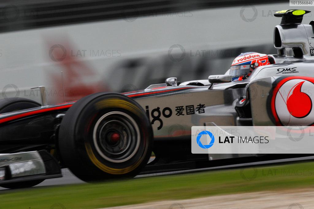 Albert Park, Melbourne, Australia 25th March 2011. Jenson Button, McLaren MP4-26 Mercedes. Action.  World Copyright: Andrew Ferraro/LAT Photographic ref: Digital Image _Q0C8794