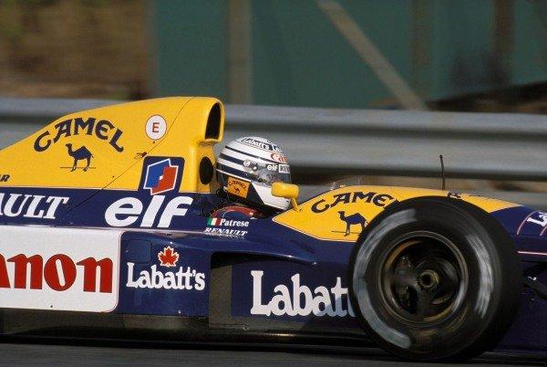 Riccardo Patrese, Williams FW14 Renault.