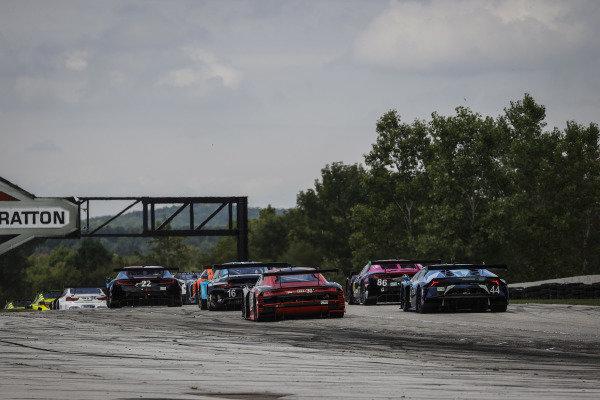#22 Gradient Racing Acura NSX GT3, GTD: Till Bechtolsheimer, Marc Miller, #16 Wright Motorsports Porsche 911 GT3 R, GTD: Ryan Hardwick, Patrick Long, #30 Team Hardpoint Audi R8 LMS GT3, GTD: Rob Ferriol, Spencer Pumpelly, #86 Meyer Shank Racing w/Curb-Agajanian Acura NSX GT3, GTD: Mario Farnbacher, Matt McMurry, #44 GRT Magnus Lamborghini Huracan GT3, GTD: John Potter, Andy Lally, start