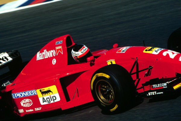 1995 Pacific Grand Prix.Tanaka International, Aida, Japan.20-22 October 1995.Gerhard Berger (Ferrari 412T2) 4th position.World Copyright - LAT Photographic