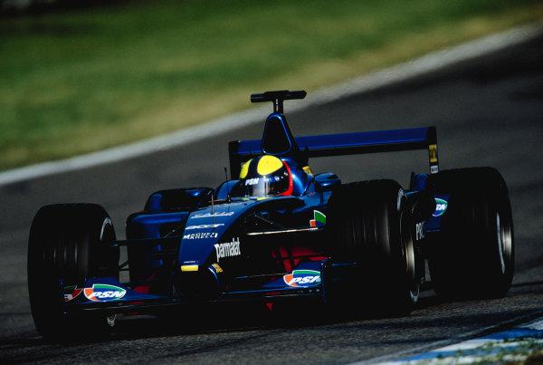2001 German Grand Prix.Hockenheim, Germany. 27-29 July 2001.Luciano Burti (Prost AP04 Acer).Ref-01 GER 25.World Copyright - Charles Coates/LAT Photographic