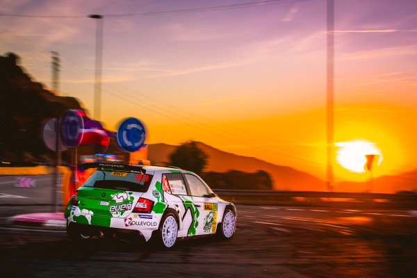 Ole Christian Veiby (NOR) / Stig Rune Skjaermoen (NOR), Printsport Oy Skoda Fabia R5 WRC2 at World Rally Championship, Rd11, RAAC Rally de Espana, Day Three, Costa Daurada, Catalunya, Spain, 8 October 2017.