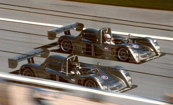 2000 Rolex 24 at Daytona. February 5-6, 2000Daytona International Speedway, Florida USA.The Cadillacs finished 2nd and 3rd in class in their first outing.-2000, Michael L. Levitt, USALAT PHOTOGRAPHIC