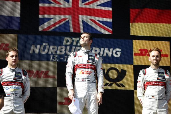 Podium: Race winner Jamie Green, Audi Sport Team Rosberg, second place Robin Frijns, Audi Sport Team Abt Sportsline, third place René Rast, Audi Sport Team Rosberg.