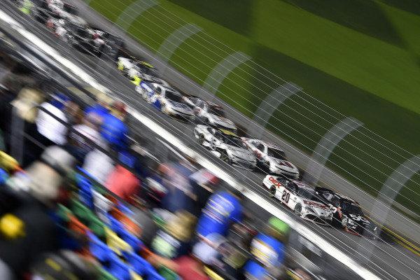 #20: Harrison Burton, Joe Gibbs Racing, Toyota Supra DEX Imaging and #22: Austin Cindric, Team Penske, Ford Mustang Verizon 5G