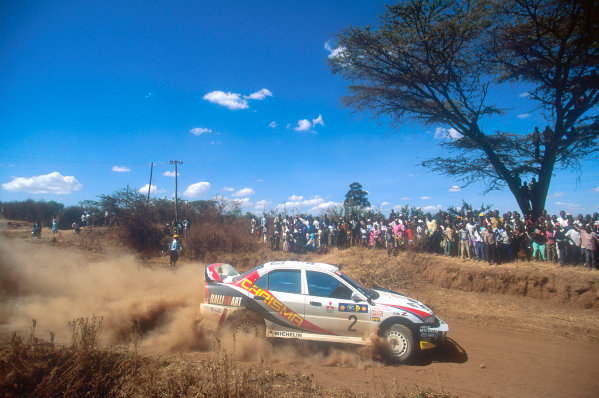 1998 World Rally ChampionshipSafari Rally 1998.Rally winner Richard Burns, Mitsubishi Lancer, action.World Copyright: Steven Tee/LAT Photographic
