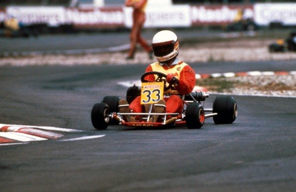 A young Michael Schumacher (GER) karting circa 1984.Formula One Drivers Feature.