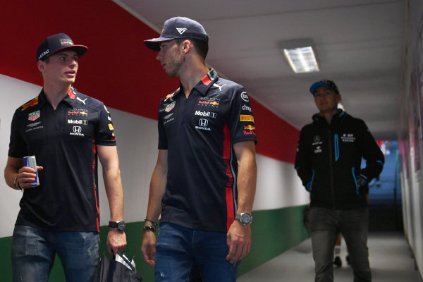 Max Verstappen, Red Bull Racing, and Pierre Gasly, Red Bull Racing