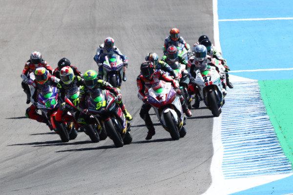 Start action, Eric Granado, One Energy Racing leads.
