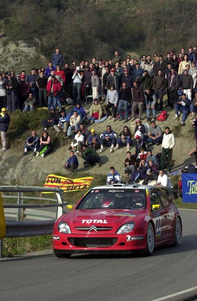 2002 World Rally ChampionshipRally Catalunya, 21st-24th March 2002.Philippe Bugalski on Stage 13.Photo: Ralph Hardwick/LAT