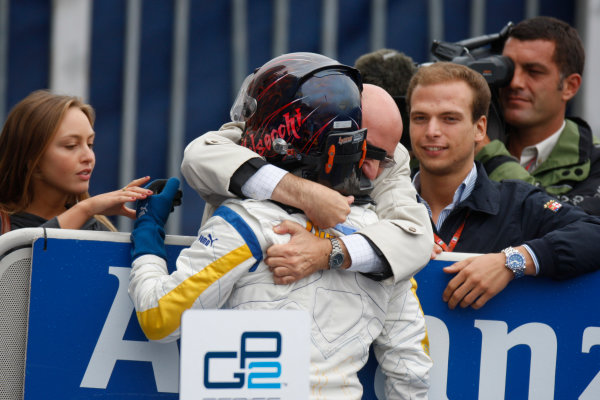 Autodromo di Monza, Monza, Italy 14th September.Sunday Race.  Davide Valsecchi (ITA, Durango) celebrates victory. World Copyright: Glenn Dunbar/GP2 Series Media Service. ref: Digital Image _O9T7862