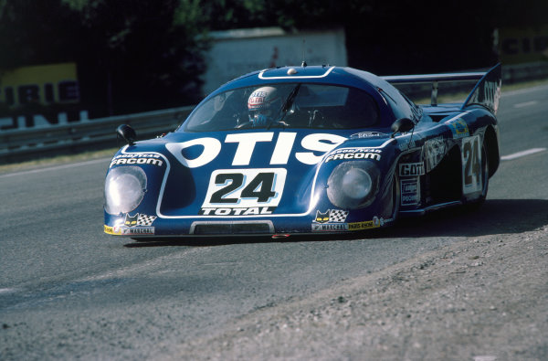 1981 Le Mans 24 Hours. Le Mans, France. 13th - 14th June 1981. Jean Rondeau / Jean-Pierre Jaussaud  (Rondeau M379C Ford), retired, action. World Copyright: LAT Photographic. Ref: 81LM12.