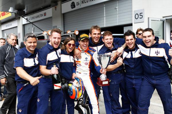 2015 GP3 Series Round 2. Red Bull Ring, Spielberg, Austria. Sunday 21 June 2015. Oscar Tunjo (COL, Trident)  Photo:  Sam Bloxham/GP3 Media Service ref: Digital Image _G7C5968