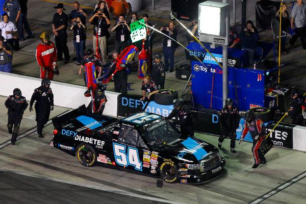 21-22 February, 2013, Daytona Beach, Florida USA Darrell Wallace Jr. pit stop.(c)2013, Russell LaBounty LAT Photo USA .