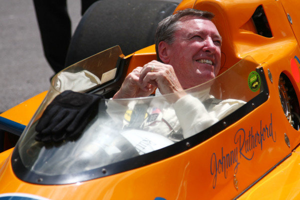 Goodwood, England. 3rd July 2009. Johnny Rutherford, McLaren M16C. Portrait. World Copyright: Kevin Wood/LAT Photographic Ref: Digital Image IMG_8623a