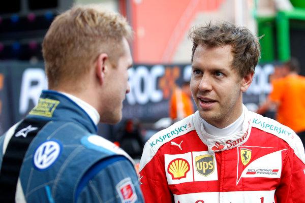 2017 Race of Champions Miami, Florida, USA Friday 20 January 2017 Scott Speed, Sebastian Vettel  World Copyright: Alexander Trienitz/LAT Photographic ref: Digital Image 2017-24h-RoC-MIA-AT2-0136