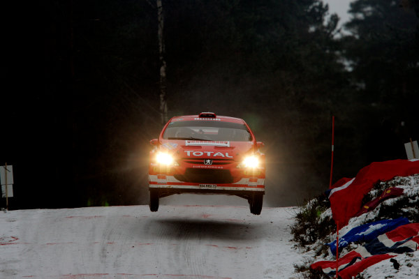 2005 FIA World Rally Champs. Round two Swedish Rally.10th-13th February 2005.Daniel Carlsson, Peugeot, action.World Copyright: McKlein/LAT