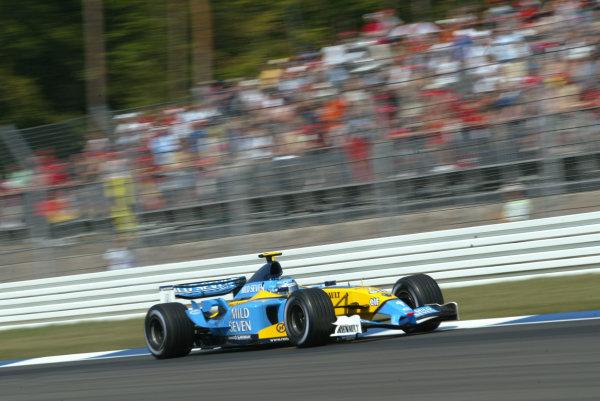 2003 German Grand Prix, Friday Qualifying, Hockenheim, Germany.1st August 2003.Jarno Trulli, Renault R23, action.World Copyright LAT Photographic.Digital Image Only.