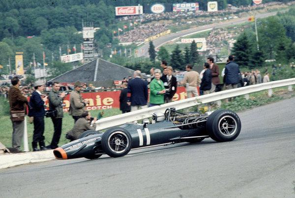 1968 Belgian Grand Prix.Spa-Francorchamps, Belgium.7-9 June 1968.Pedro Rodriguez (BRM P133) 2nd position.Ref-68 BEL 11.World Copyright - LAT Photographic