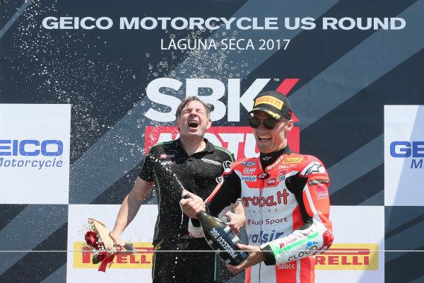 2017 Superbike World Championship - Round 8 Laguna Seca, USA. Sunday 9 July 2017 Third place Chaz Davies, Ducati Team World Copyright: Gold and Goose/LAT Images ref: Digital Image 683466