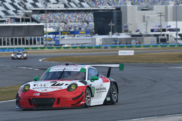IMSA WeatherTech SportsCar Championship Rolex 24 Hours Daytona Beach, Florida, USA Friday 26 January 2018 #58 Wright Motorsports Porsche 911 GT3 R, GTD: Patrick Long, Christina Nielsen, Robert Renauer, Mathieu Jaminet World Copyright: Richard Dole LAT Images  ref: Digital Image 5RD_6637