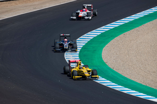 2017 FIA Formula 2 Round 10. Circuito de Jerez, Jerez, Spain. Sunday 8 October 2017. Sean Gelael (INA, Pertamina Arden).  Photo: Zak Mauger/FIA Formula 2. ref: Digital Image _56I7570