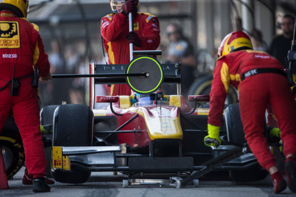2017 FIA Formula 2 Round 10. Circuito de Jerez, Jerez, Spain. Sunday 8 October 2017. Nyck De Vries (NED, Racing Engineering).  Photo: Andrew Ferraro/FIA Formula 2. ref: Digital Image _FER3618