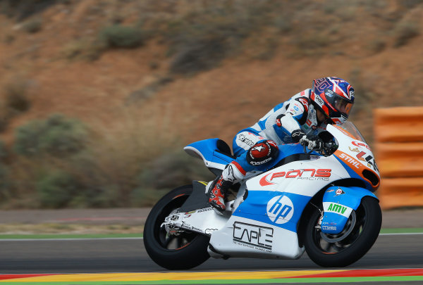 2017 Moto2 Championship - Round 14 Aragon, Spain. Friday 22 September 2017 Fabio Quartararo, Pons HP 40 World Copyright: Gold and Goose / LAT Images ref: Digital Image 693851
