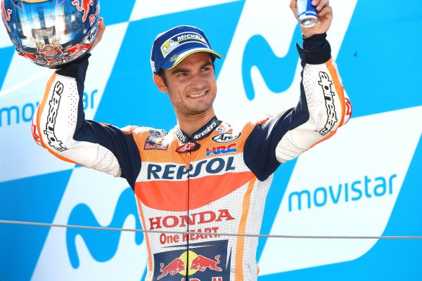 2017 MotoGP Championship - Round 14 Aragon, Spain. Sunday 24 September 2017 Dani Pedrosa, Repsol Honda Team World Copyright: Gold and Goose / LAT Images ref: Digital Image 14191