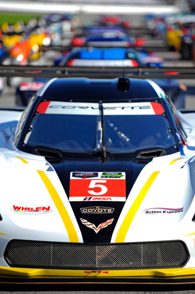 22-25 January, 2015, Daytona Beach, Florida USA The #5 Corvette at the front of the 53rd Rolex 24 at Daytona full field. ?2015, F. Peirce Williams LAT Photo USA