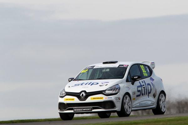 2014 Renault Clio Cup, Donington Park, Leicestershire. 17th - 20th April 2014. Jordan Stilp (GBR) 20Ten Racing Renault Clio Cup. World Copyright: Ebrey / LAT Photographic.