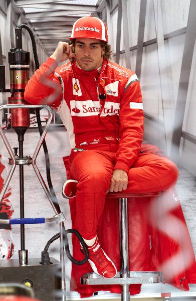Silverstone, Northamptonshire, England 8th July 2011 Fernando Alonso, Ferrari F150° Italia. Portrait.  World Copyright: Steve Etherington/LAT Photographic ref: Digital Image F72E9514