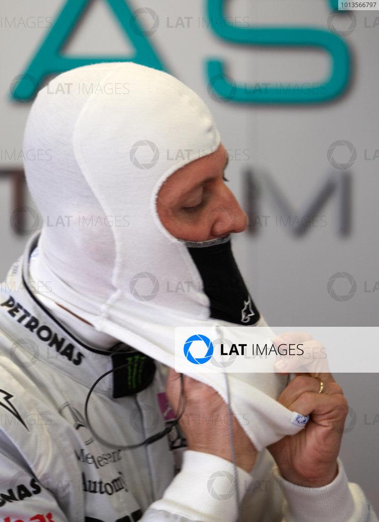 Albert Park, Melbourne, Australia 24th March 2011. Michael Schumacher, Mercedes GP W02. Portrait.  World Copyright: Steve Etherington/LAT Photographic ref: Digital Image SNE23143