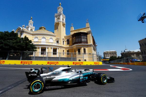 Baku City Circuit, Baku, Azerbaijan. Saturday 24 June 2017. Valtteri Bottas, Mercedes F1 W08 EQ Power+.  World Copyright: Steven Tee/LAT Images ref: Digital Image _R3I2768