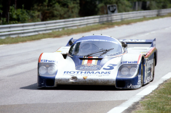 1982 Le Mans 24 hours. Le Mans, France. 19-20 June 1982. Hurley Haywood/Al Holbert/Jurgen Barth (Porsche 956), 3rd position. World Copyright: LAT Photographic. Ref: 82LM14.