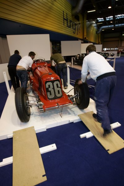 2006 Autosport International ExhibitionBirmingham NEC, Wedensday 11th January 2006.Preparations for the LAT/Donington GP Collection 100 Years of Grand Prix exhibition.World Copyright: Andrew Ferraro/LAT Photographicref: Digital Image Only