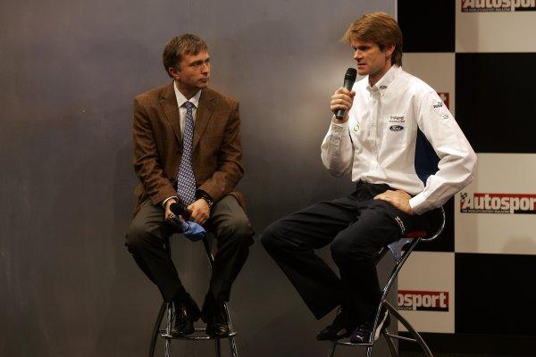 2006 Autosport InternationalBirmingham NEC, Thursday 12th January 2006.Jost Capito and Marcus Gronholm.World Copyright: Andrew Ferraro/LAT Photographicref: Digital Image Only