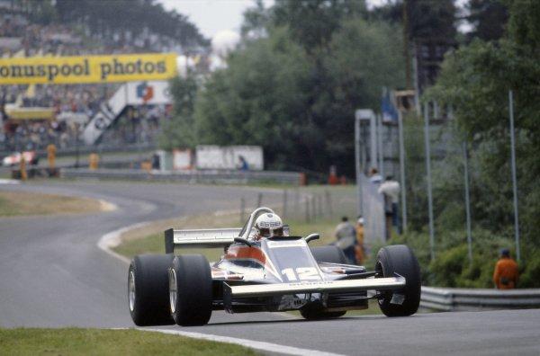 1981 Belgian Grand Prix.Zolder, Belgium. 15-17 May 1981.Nigel Mansell (Lotus 81B-Ford Cosworth), 3rd position.World Copyright: LAT PhotographicRef: 35mm transparency 81BEL09