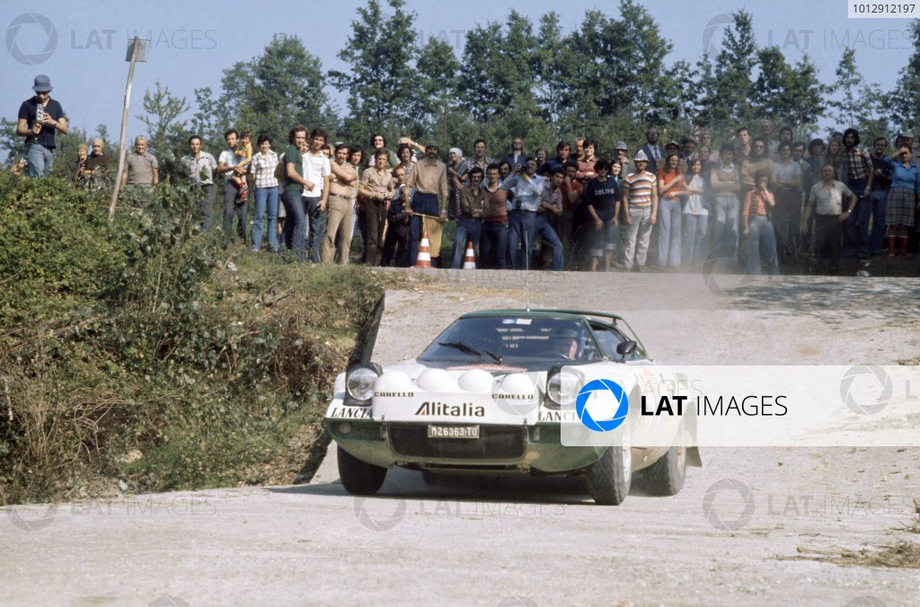 1975 World Rally Championship. Sanremo Rally, Italy. 4-10 October 1975. Bjorn Waldegaard/Hans Thorszelius (Lancia Stratos), 1st position. World Copyright: LAT Photographic Ref: 35mm transparency 75RALLY06