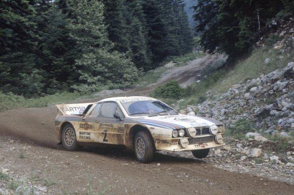 1982 World Rally Championship.Acropolis Rally, Greece. 26-29 June 1982.Markku Alen/Ilkka Kivimaki (Lancia Rally 037), retired.World Copyright: LAT PhotographicRef: 35mm transparency 82RALLY16