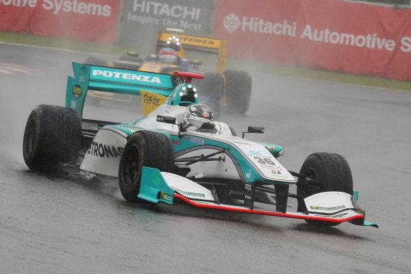 2014 Super Formula Series. Suzuka, Japan. 9th - 10th November 2014. Rd 7. Race 1 - 3rd position Andre Lotterer ( #36 PETRONAS TOM'S SF14 ) action World Copyright: Yasushi Ishihara / LAT Photographic. Ref:  2014_SF_Rd7_010.JPG