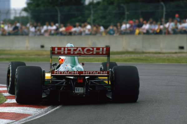 Montreal, Quebec, Canada. 12-14 June 1992.Johnny Herbert (Lotus 107-Ford) retired, action.World Copyright - LAT Photographic