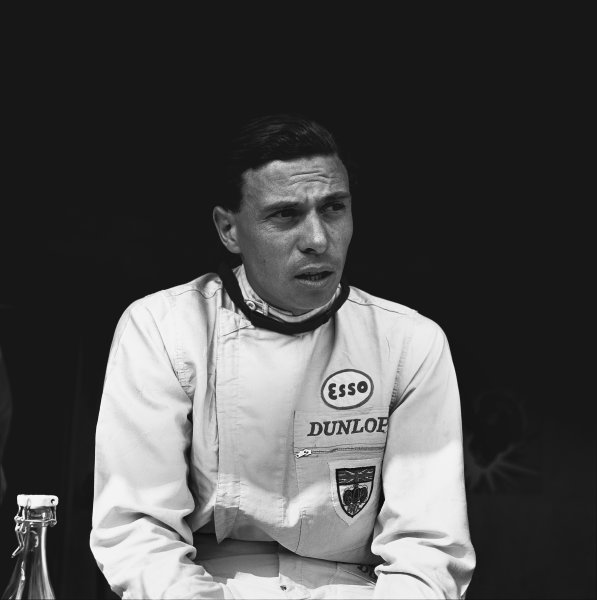Nurburgring, Germany. 4 August 1963. Jim Clark (Lotus 25-Climax), 2nd position, portrait. World Copyright: LAT Photographic. Ref:  19714.