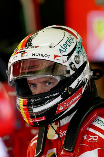 Autodromo Hermanos Rodriguez, Mexico City, Mexico. Friday 27 October 2017. Sebastian Vettel, Ferrari. World Copyright: Charles Coates/LAT Images  ref: Digital Image DJ5R8778