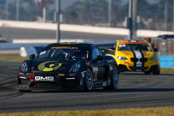 5-8 January, 2017, Daytona Beach, Florida USA 88, Porsche, Porsche Cayman GT4, GS, Carter Yeung, Alec Udell, Clark Toppe ?2017, Jake Galstad LAT Photo USA
